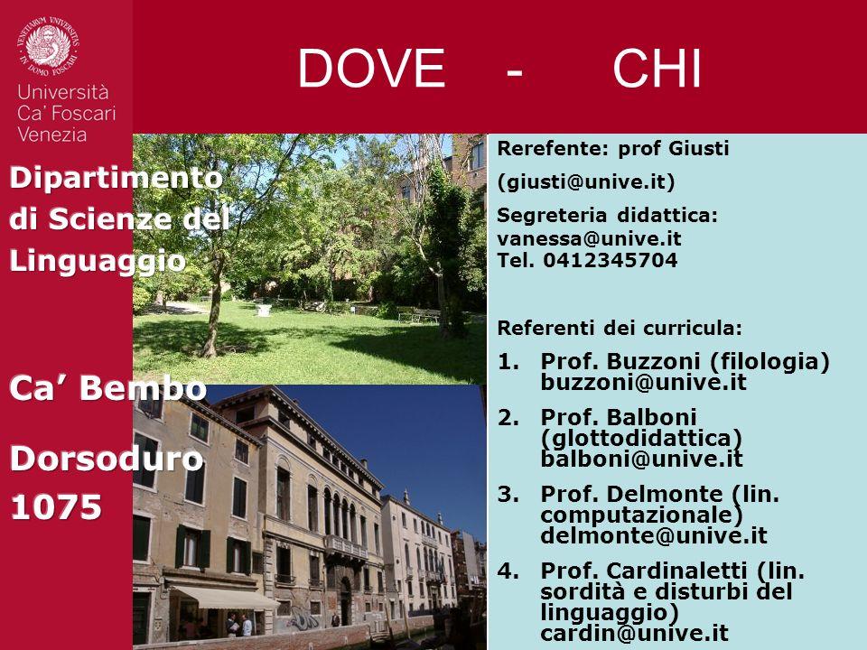 DOVE - CHI Ca' Bembo Dorsoduro 1075