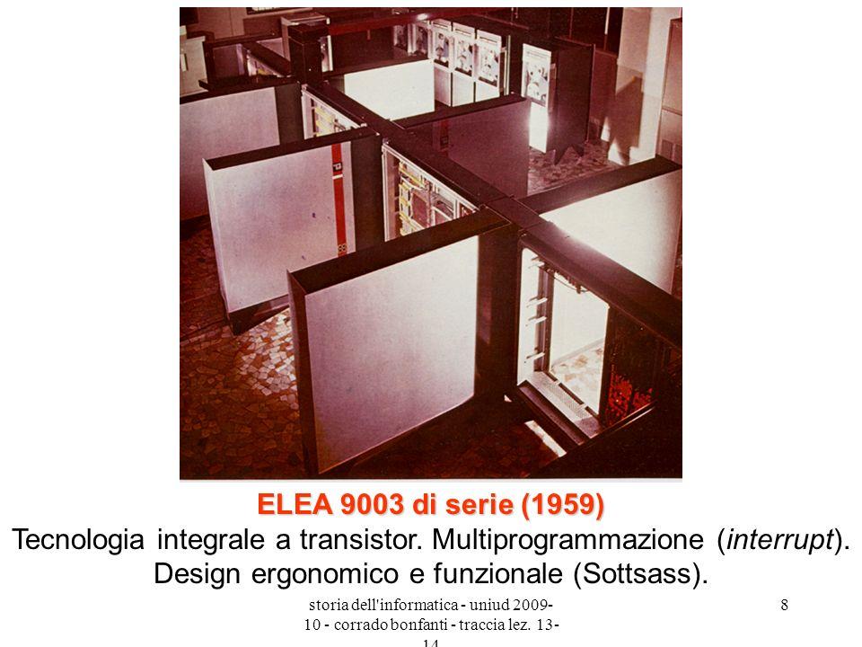 ELEA 9003 di serie (1959) Tecnologia integrale a transistor