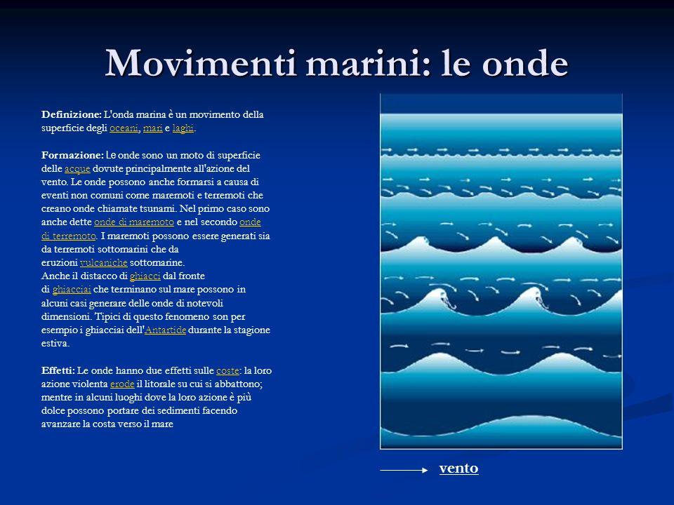 Movimenti marini: le onde