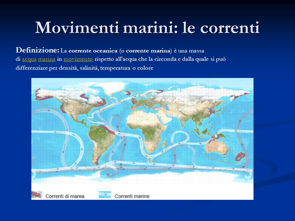 Movimenti marini: le correnti