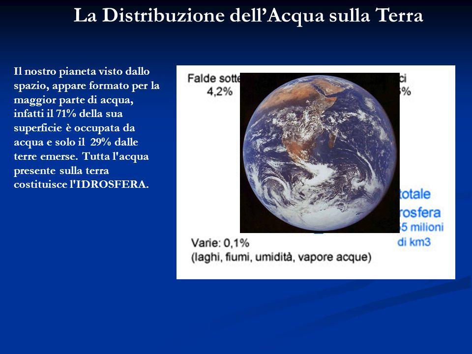 La Distribuzione dell'Acqua sulla Terra