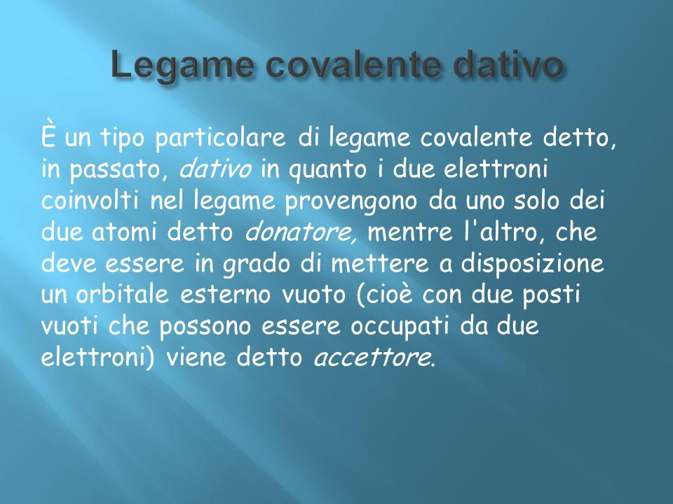 Legame covalente dativo