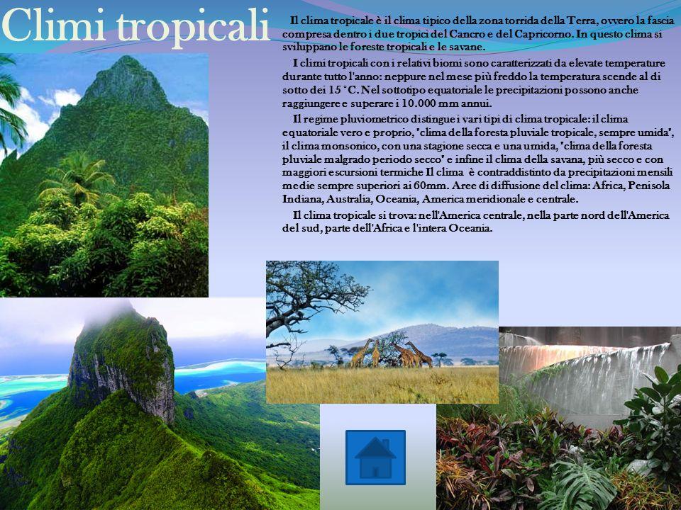 Climi tropicali