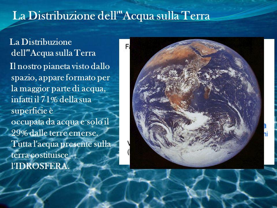 """La Distribuzione dell """"Acqua sulla Terra"""