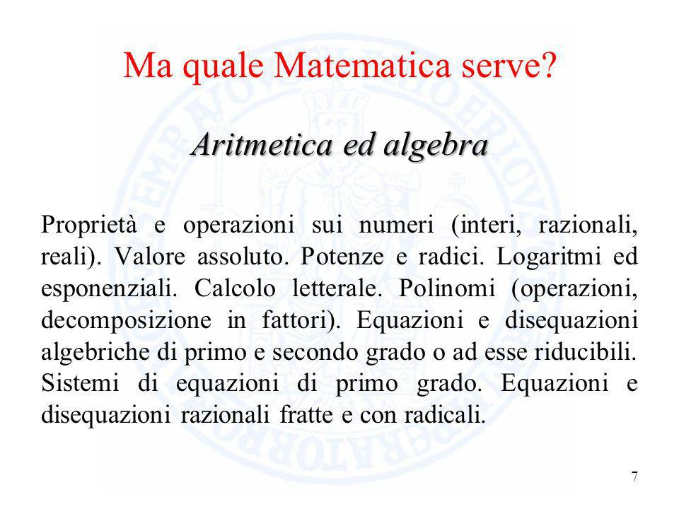Ma quale Matematica serve
