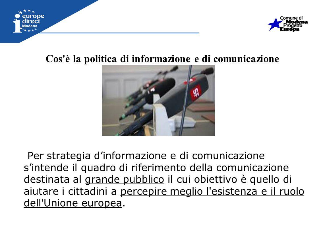 Cos è la politica di informazione e di comunicazione
