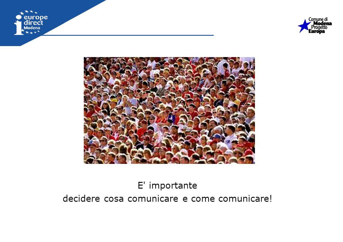 decidere cosa comunicare e come comunicare!