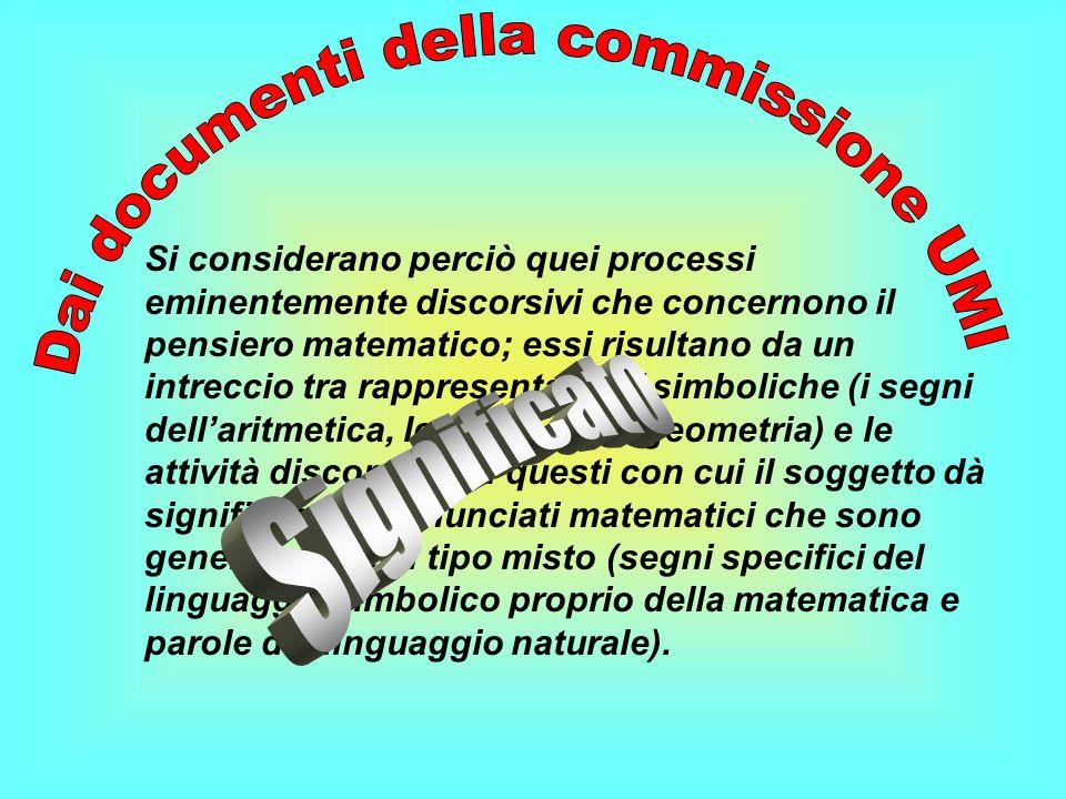 Dai documenti della commissione UMI