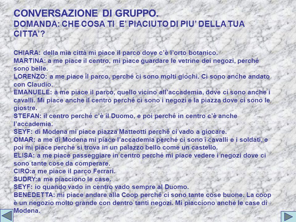 CONVERSAZIONE DI GRUPPO.
