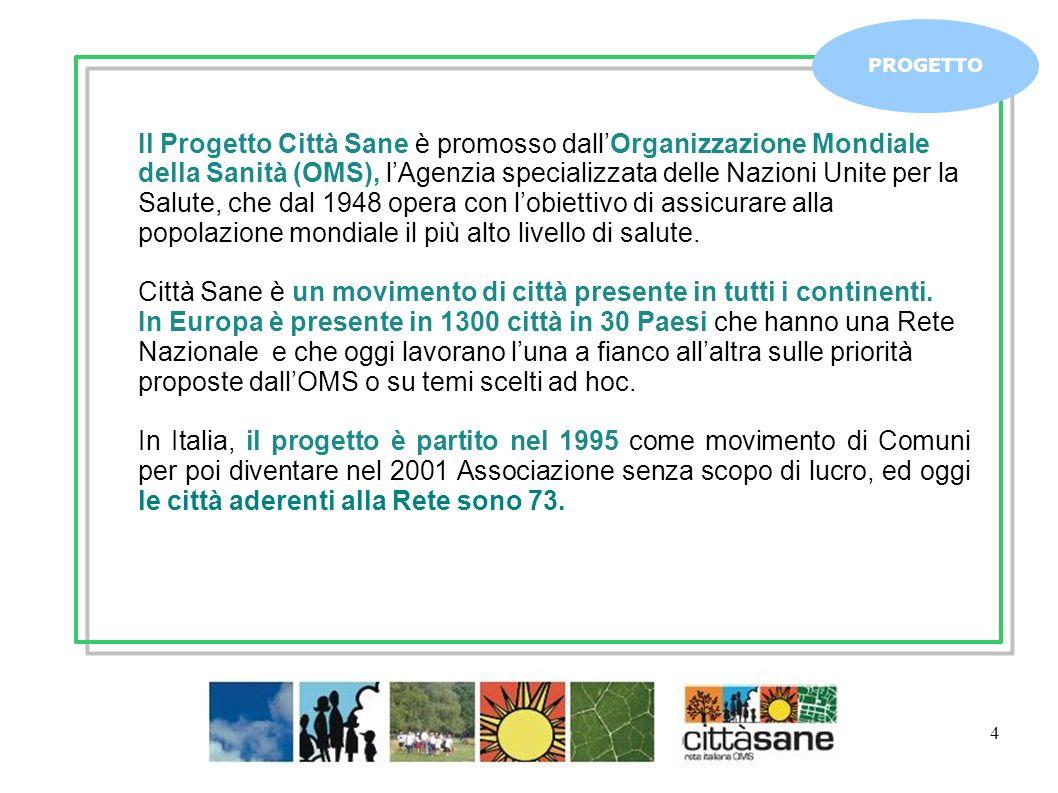 Città Sane è un movimento di città presente in tutti i continenti.
