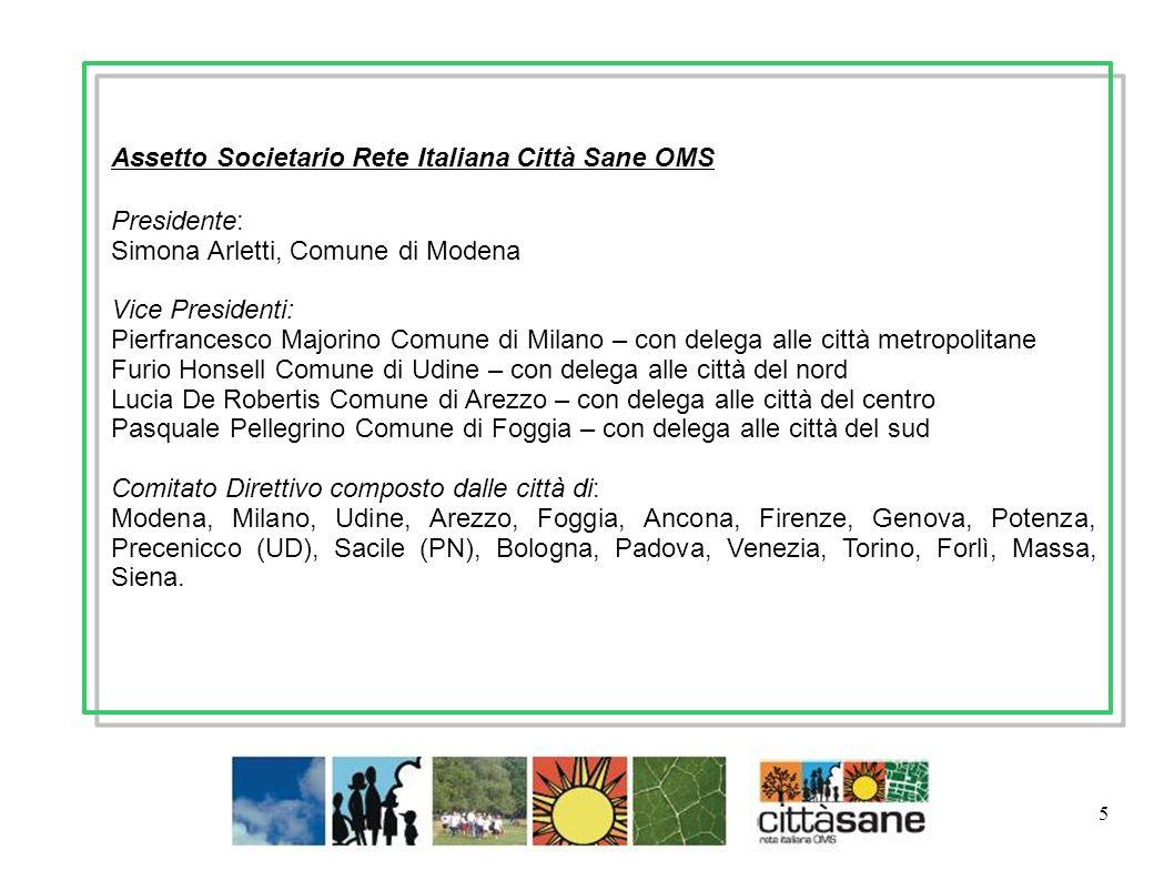 Assetto Societario Rete Italiana Città Sane OMS Presidente: