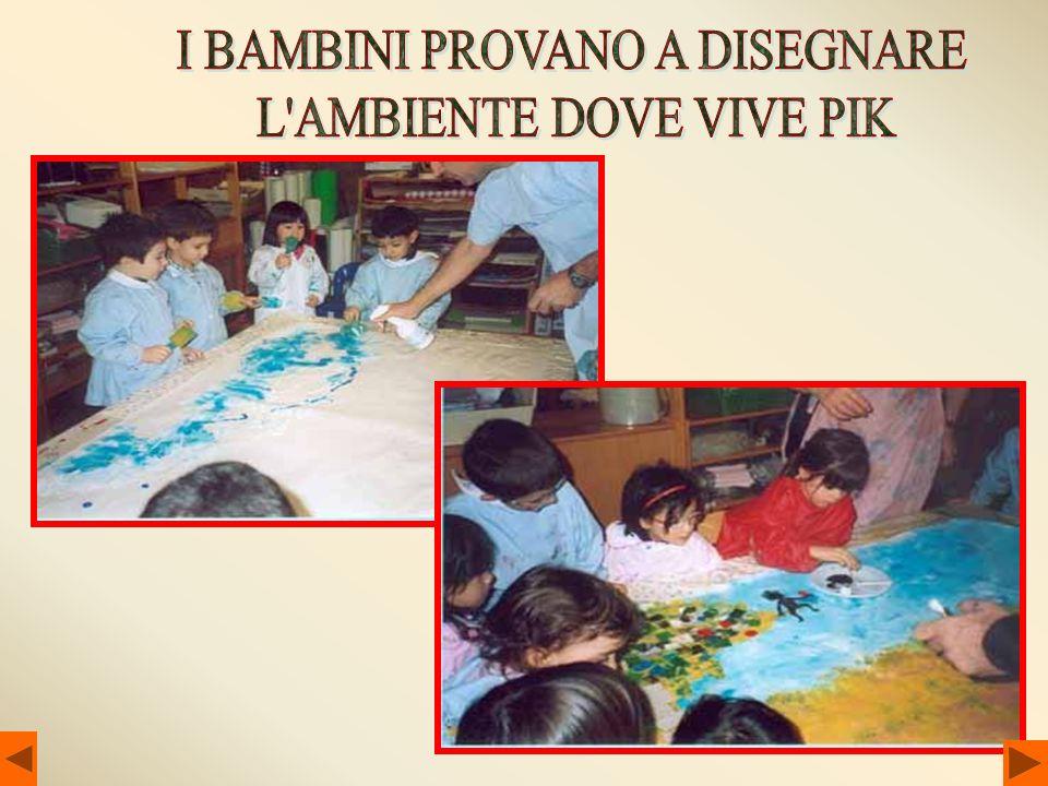 I BAMBINI PROVANO A DISEGNARE L AMBIENTE DOVE VIVE PIK