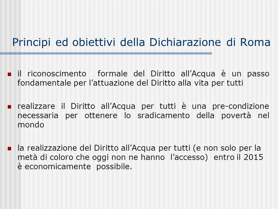 Principi ed obiettivi della Dichiarazione di Roma