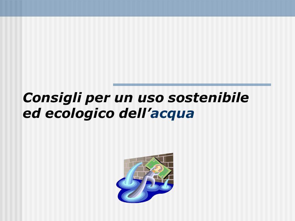 Consigli per un uso sostenibile ed ecologico dell'acqua