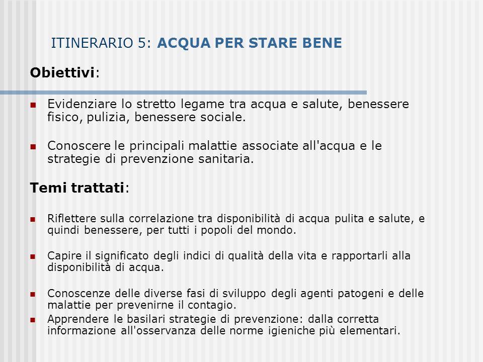 ITINERARIO 5: ACQUA PER STARE BENE