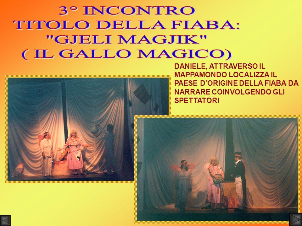 3° INCONTRO TITOLO DELLA FIABA: GJELI MAGJIK ( IL GALLO MAGICO)