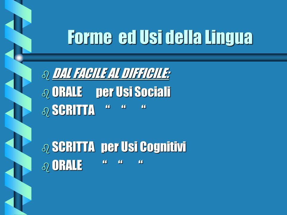 Forme ed Usi della Lingua
