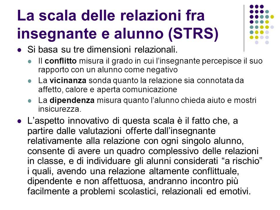 La scala delle relazioni fra insegnante e alunno (STRS)