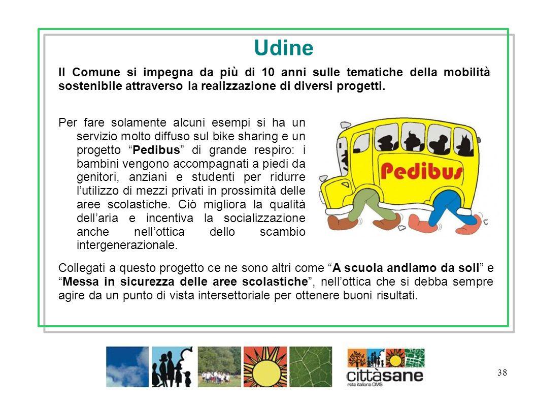 Udine Il Comune si impegna da più di 10 anni sulle tematiche della mobilità sostenibile attraverso la realizzazione di diversi progetti.