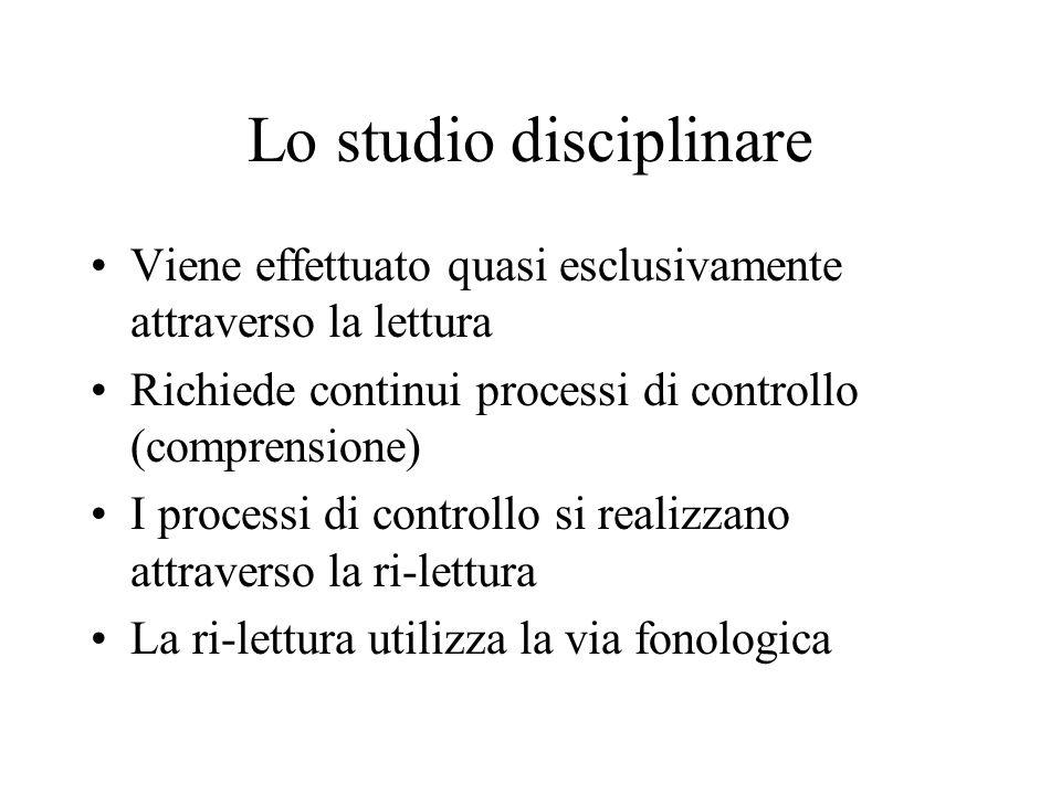 Lo studio disciplinare