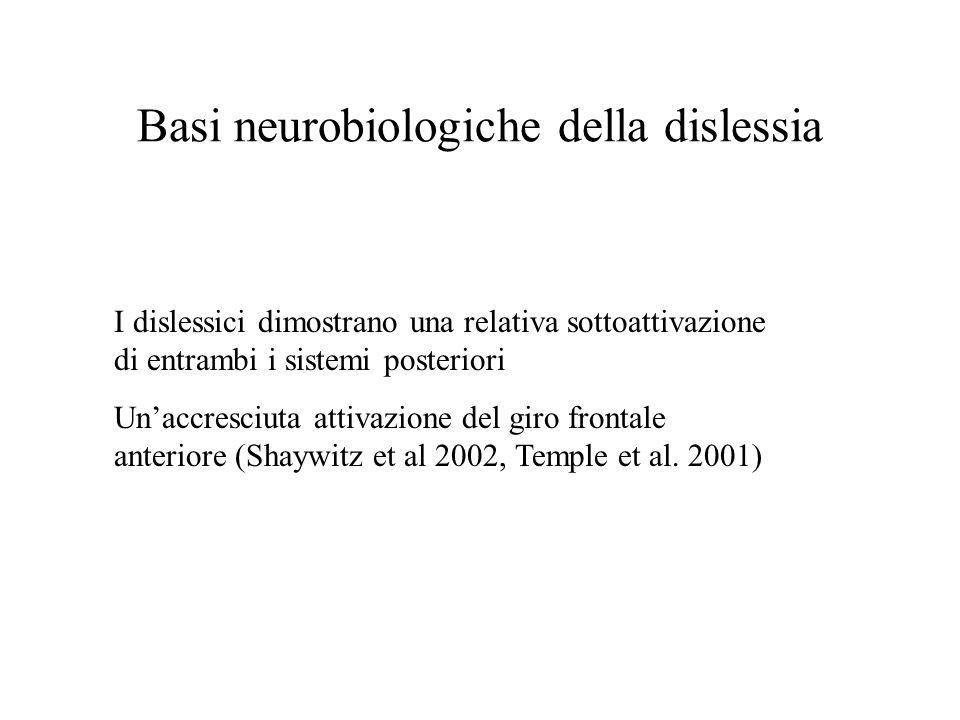 Basi neurobiologiche della dislessia
