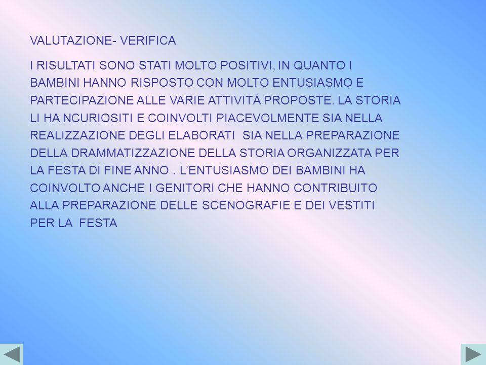 VALUTAZIONE- VERIFICA