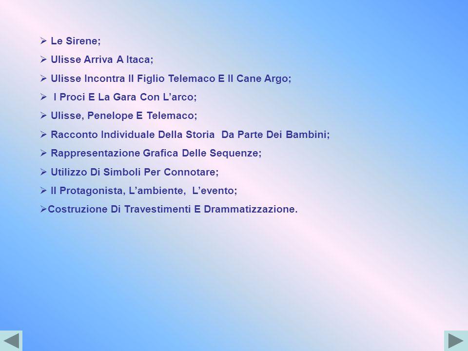 Le Sirene;Ulisse Arriva A Itaca; Ulisse Incontra Il Figlio Telemaco E Il Cane Argo; I Proci E La Gara Con L'arco;