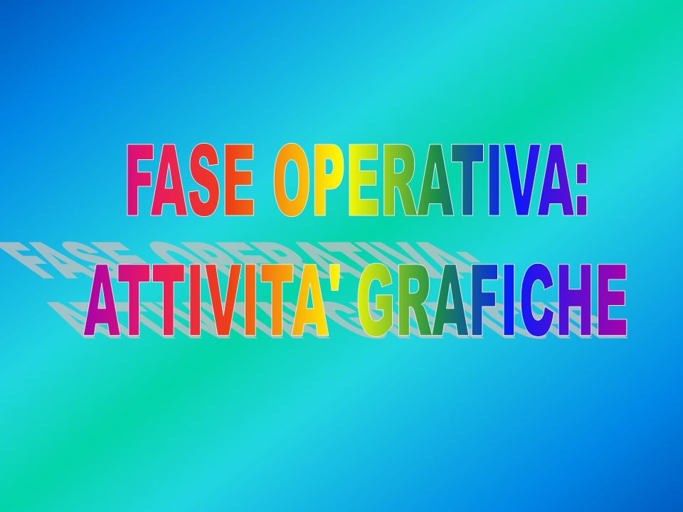 FASE OPERATIVA: ATTIVITA GRAFICHE