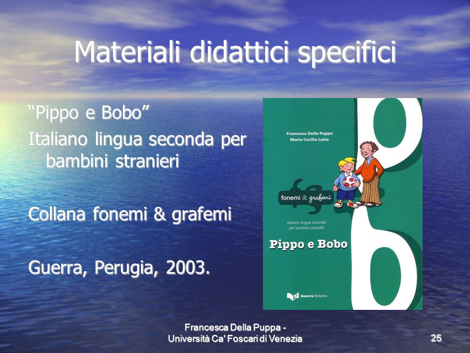 Materiali didattici specifici