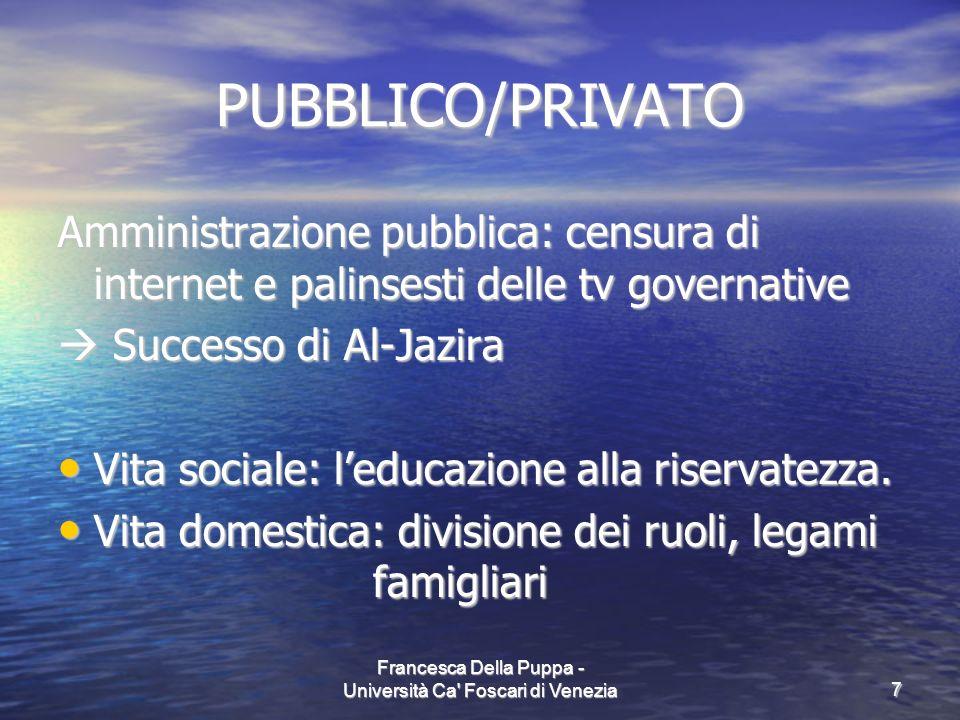 Francesca Della Puppa - Università Ca Foscari di Venezia