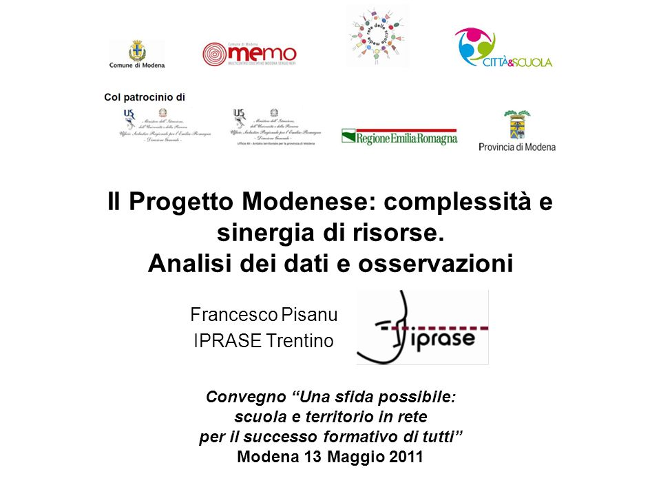 Francesco Pisanu IPRASE Trentino