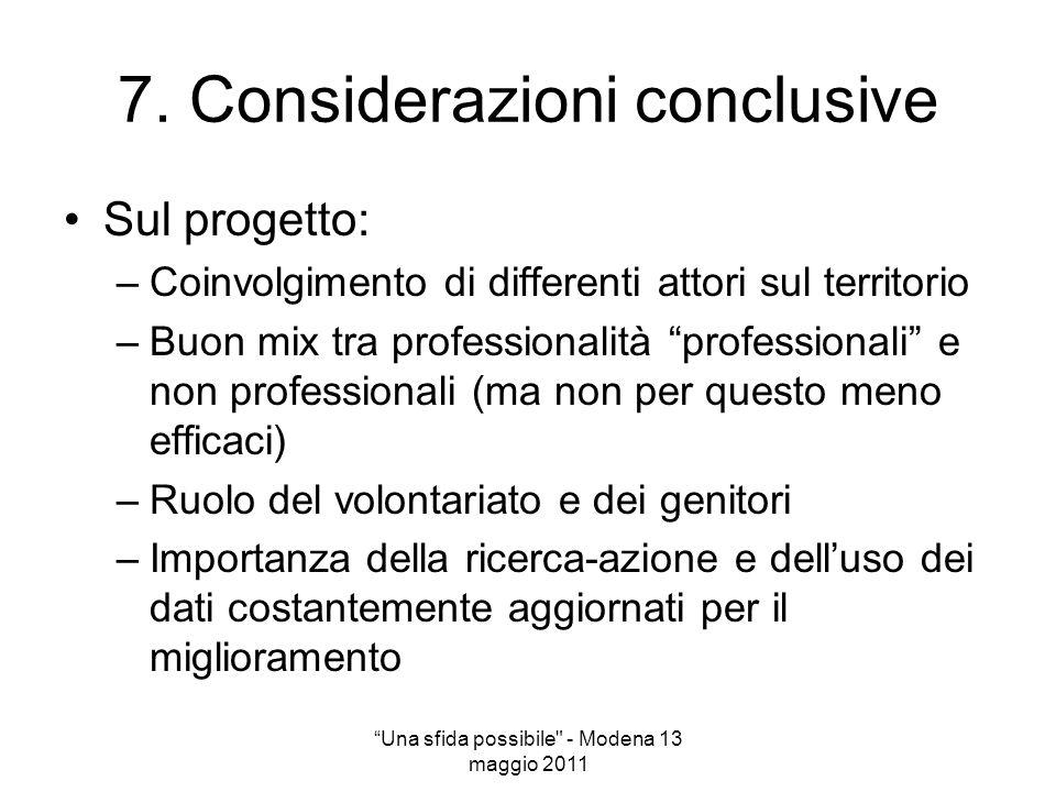 7. Considerazioni conclusive