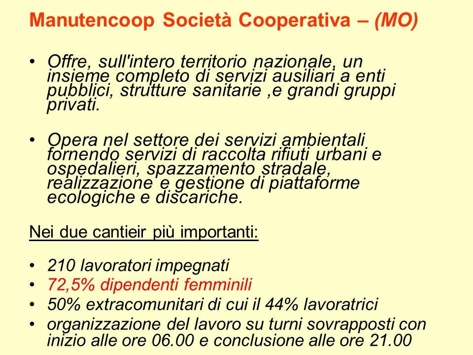Manutencoop Società Cooperativa – (MO)