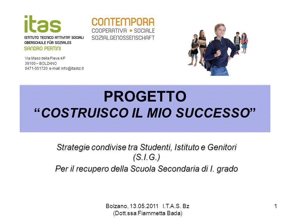 PROGETTO COSTRUISCO IL MIO SUCCESSO
