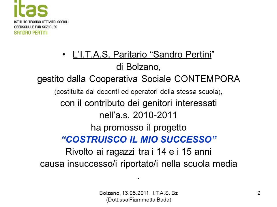 L'I.T.A.S. Paritario Sandro Pertini di Bolzano,