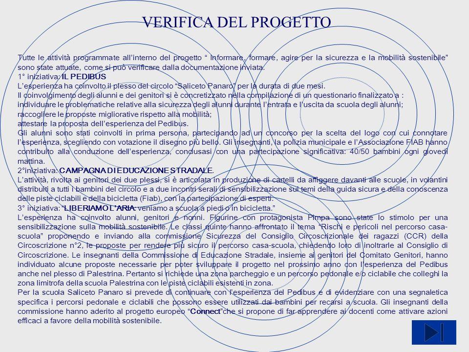 VERIFICA DEL PROGETTO