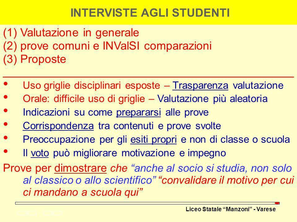 INTERVISTE AGLI STUDENTI