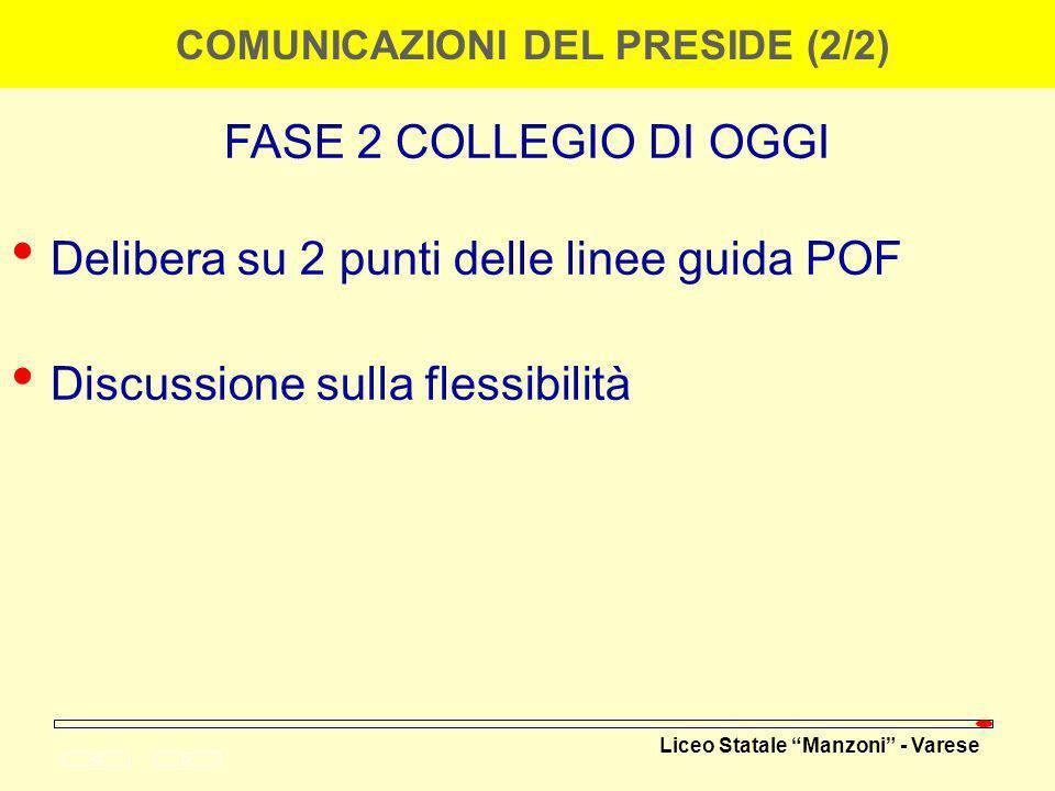 COMUNICAZIONI DEL PRESIDE (2/2)