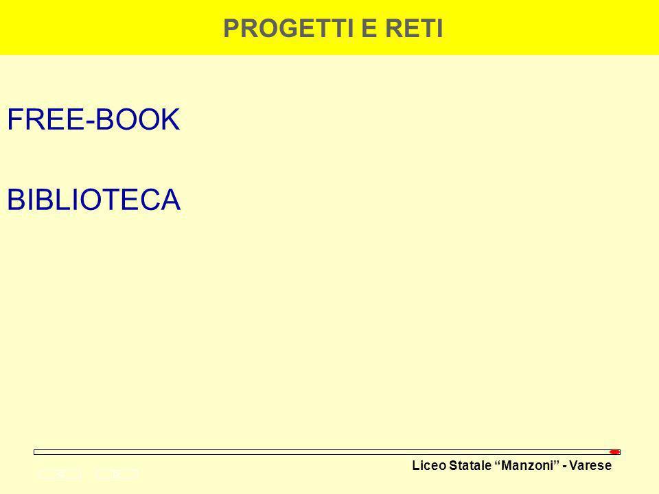 PROGETTI E RETI FREE-BOOK BIBLIOTECA 19