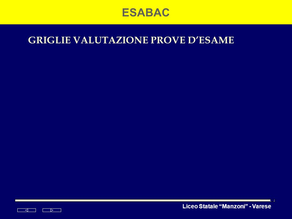 GRIGLIE VALUTAZIONE PROVE D'ESAME