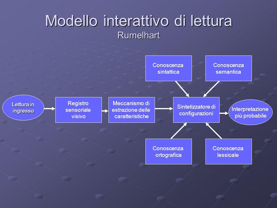 Modello interattivo di lettura Rumelhart
