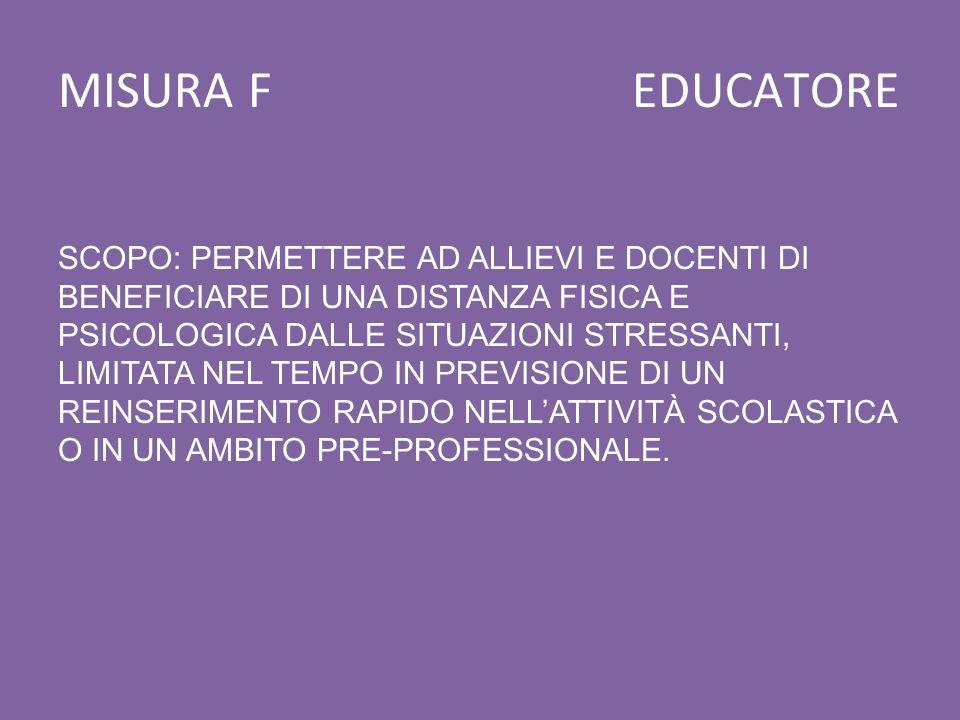 MISURA F EDUCATORE
