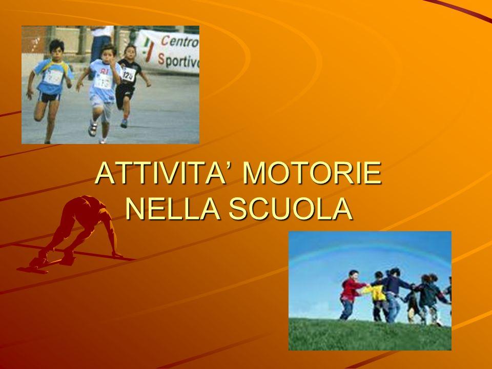 ATTIVITA' MOTORIE NELLA SCUOLA