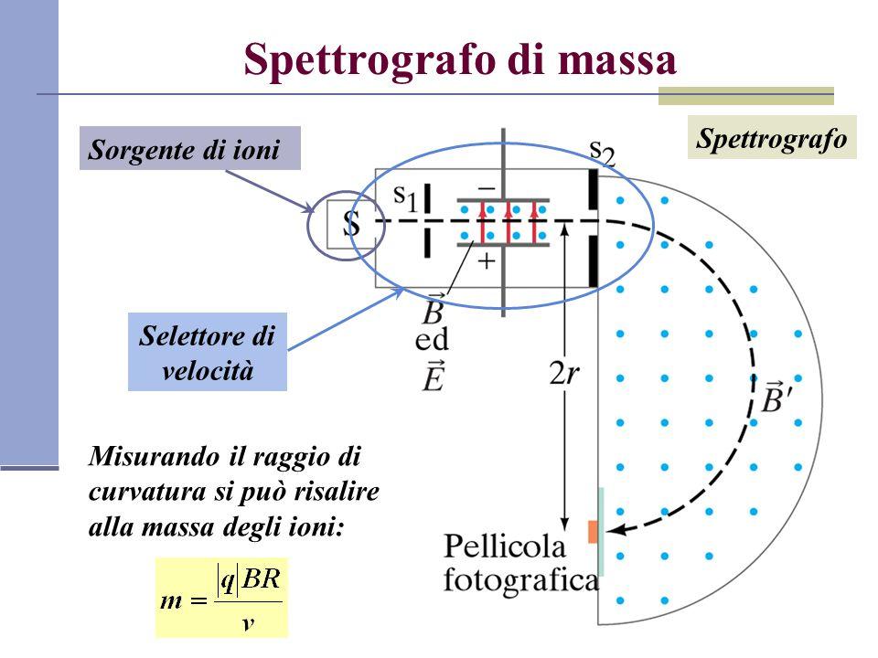 Spettrografo di massa Spettrografo Sorgente di ioni
