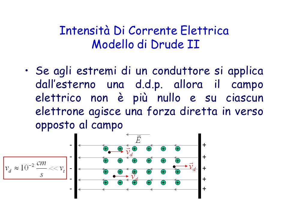 Intensità Di Corrente Elettrica Modello di Drude II