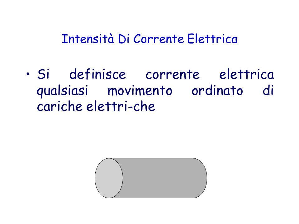 Intensità Di Corrente Elettrica