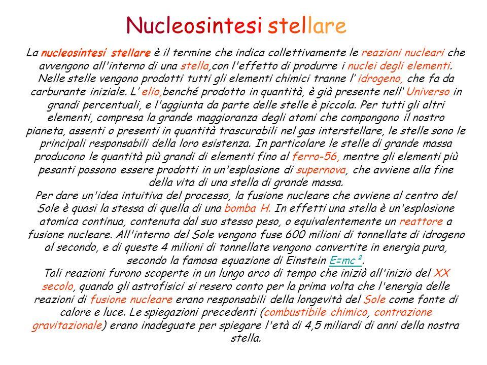 Nucleosintesi stellare