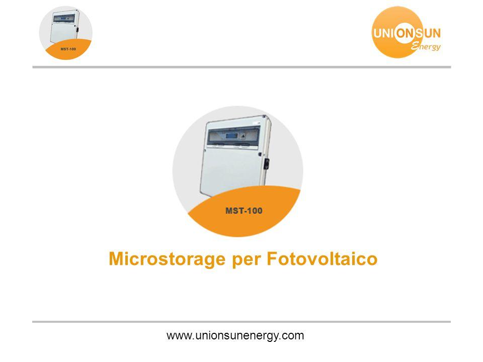 Microstorage per Fotovoltaico