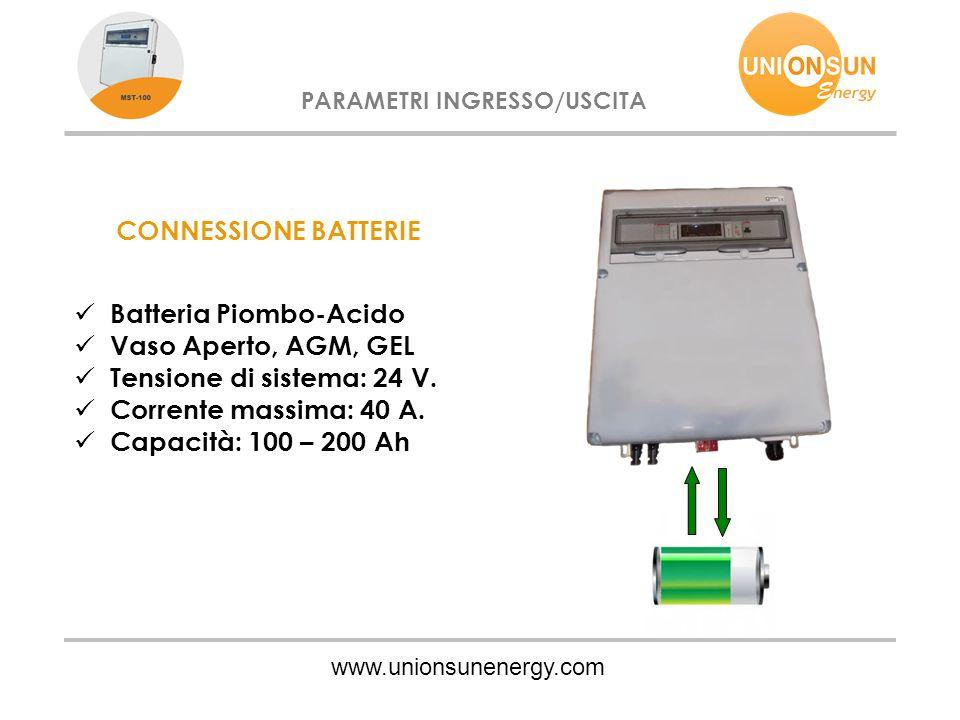 Batteria Piombo-Acido Vaso Aperto, AGM, GEL Tensione di sistema: 24 V.
