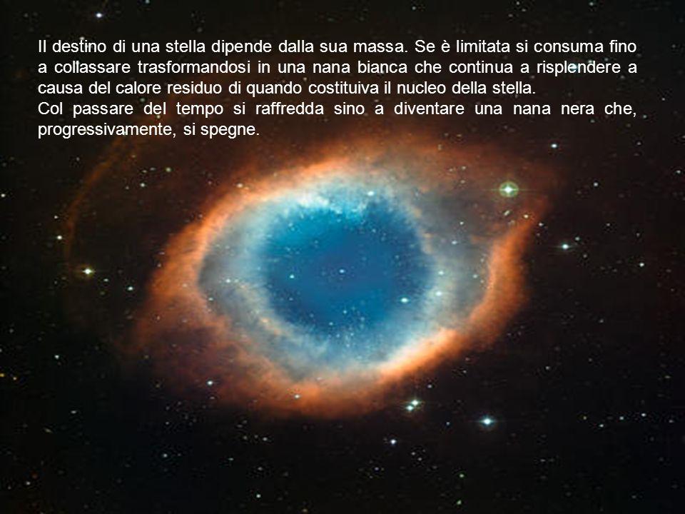 Il destino di una stella dipende dalla sua massa